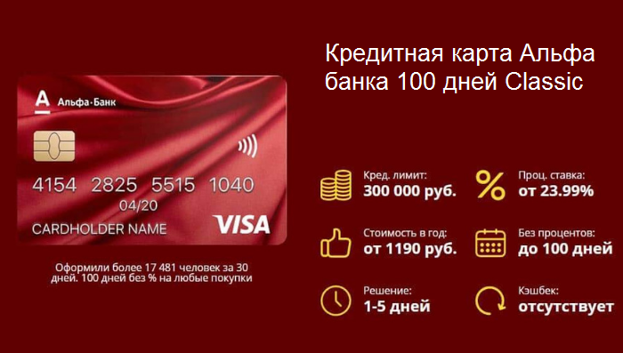 Альфа банк кредитную карту